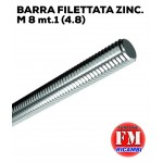 Barra filettata ZINC. M 8 mt.1 (4.8)