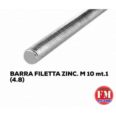 Barra filettata ZINC. M 10 mt.1 (4.8)