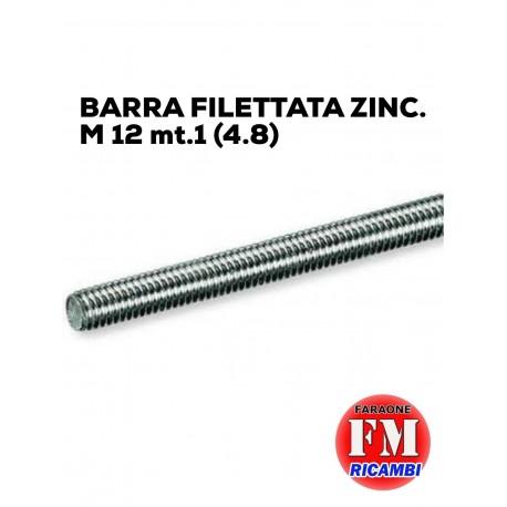 Barra filettata ZINC. M 12 mt.1 (4.8)
