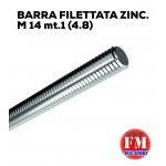 Barra filettata ZINC. M 14 mt.1 (4.8)