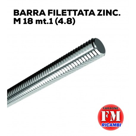 Barra filettata ZINC. M 18 mt.1 (4.8)