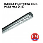 Barra filettata ZINC. M 22 mt.1 (4.8)