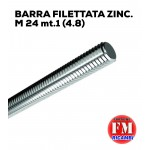 Barra filettata ZINC. M 24 mt.1 (4.8)