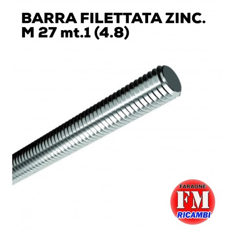 Barra filettata ZINC. M 27 mt.1 (4.8)