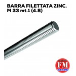 Barra filettata ZINC. M 33 mt.1 (4.8)