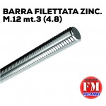 Barra filettata ZINC. M.12 mt.3 (4.8)