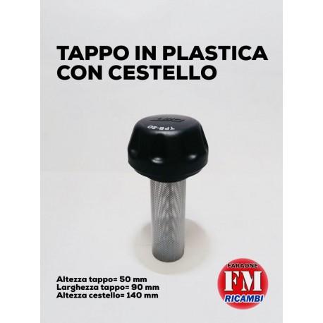 Tappo in plastica con cestello