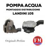 Pompa acqua montaggio distribuzione Landini 105