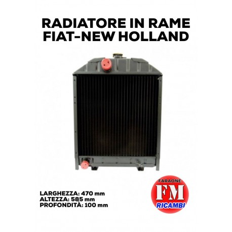 Radiatore in rame Fiat-New Holland