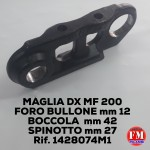 Maglia dx MF 200, foro bullone mm 12, boccola mm 42, spinotto mm 27