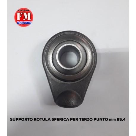 Supporto rotula sferica per terzo punto mm. 25,4