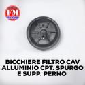 Bicchiere filtro cav alluminio cpt. spurgo e supp. perno