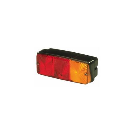 Fanale posteriore per trattore e rimorchio 3 luci rettangolare