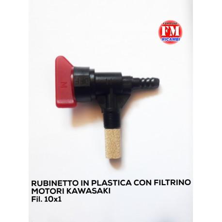 Rubinetto in plastica con filtrino motori Kawasaki
