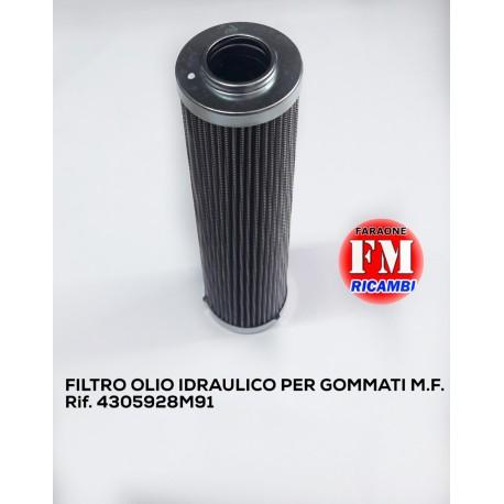 Filtro olio idraulico per gommati M.F. - 4305928M91
