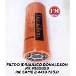 Filtro olio idraulico Donaldson - Same gommato