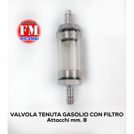 Valvola tenuta gasolio con filtro
